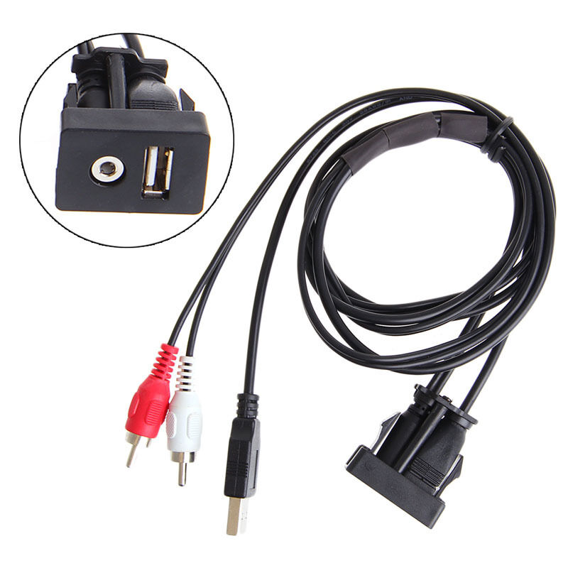 3 5mm 1 M Usb Aux Stereo Female To 2 Rca Male Cable Car