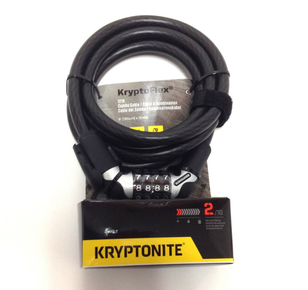 Bike Cable Lock >> KRYPTONITE KRYPTOFLEX 1218 RESETTABLE COMBO COMBINATION ...