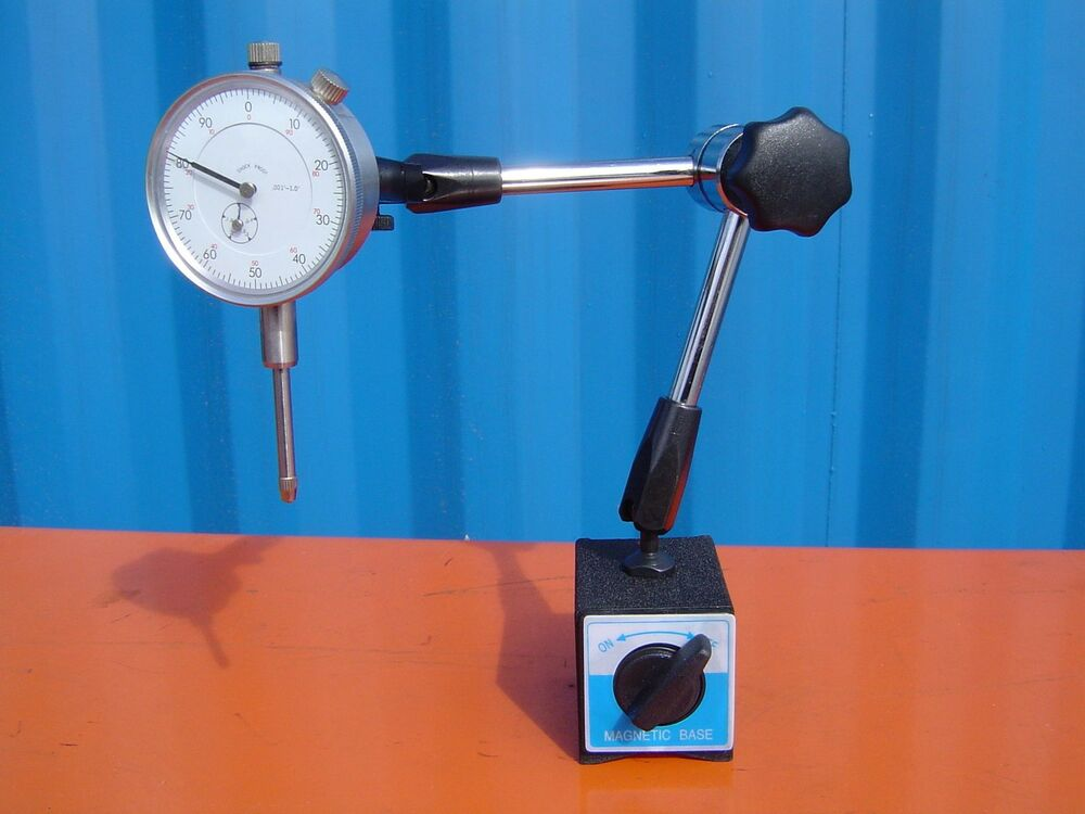 Hydraulic Arm With Magnetic Base Indicator : Universal swivel arm magnetic base quot dial indicator