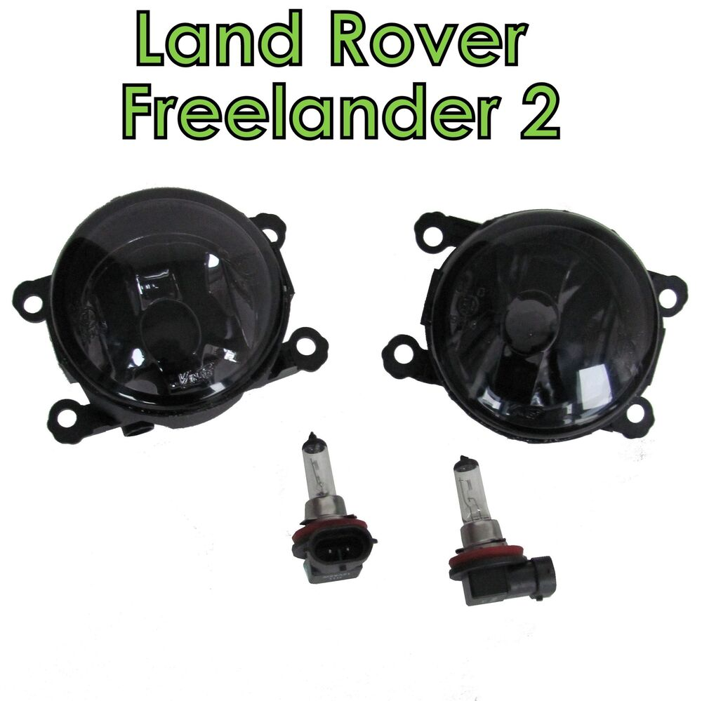 Pair Of Clear Front Indicator Lights For Land Rover: PAIR Smoked Fog Lamps Light For Land Rover Freelander 2