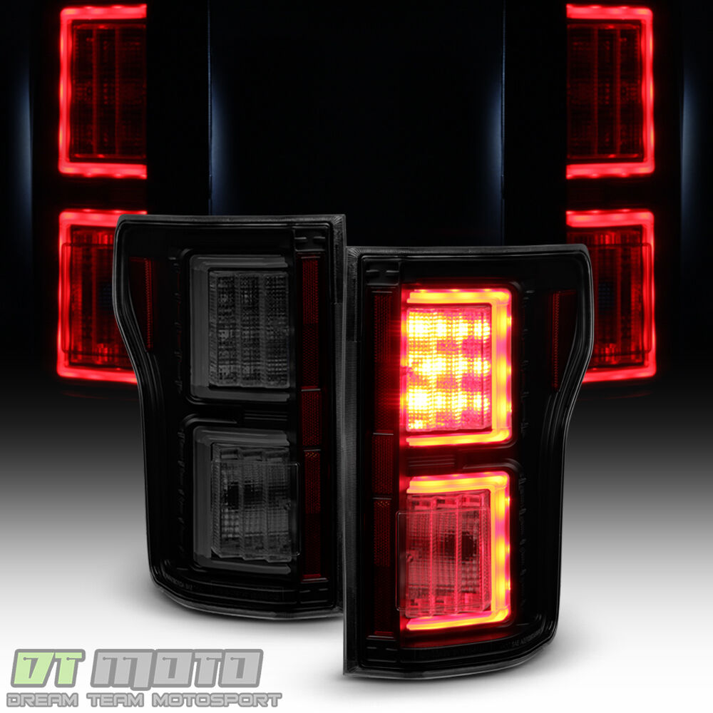 black smoke 2015 2017 ford f150 led light bar tail lights. Black Bedroom Furniture Sets. Home Design Ideas