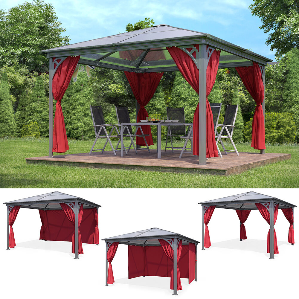 luxus aluminium gartenpavillon 3 60x3 60m pavillon gazebo partyzelt festzelt alu ebay. Black Bedroom Furniture Sets. Home Design Ideas