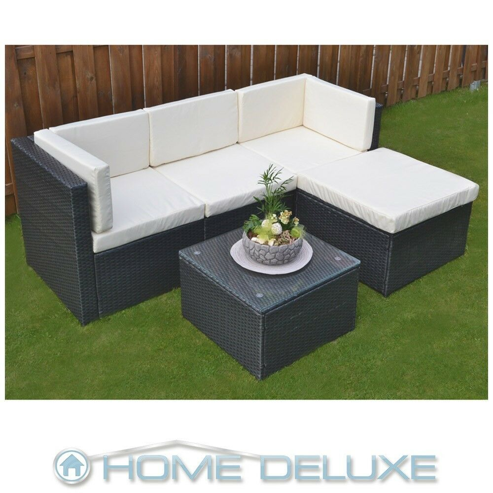 poly rattan sitzgruppe essgruppe essgarnitur lounge rattanm bel gartenm bel sofa ebay. Black Bedroom Furniture Sets. Home Design Ideas