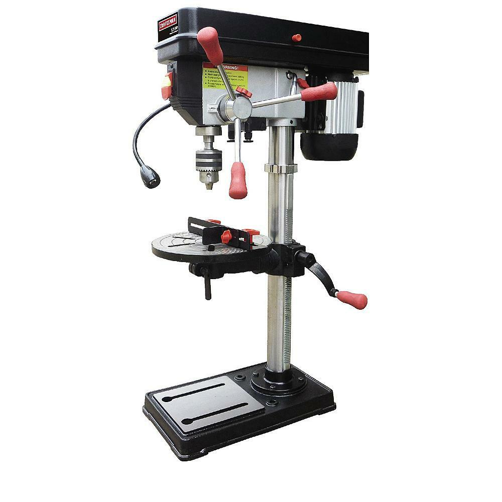 "Craftsman 12"" Bench Drill Press Laser & LED Light 1/2 HP Power Drilling Workshop 