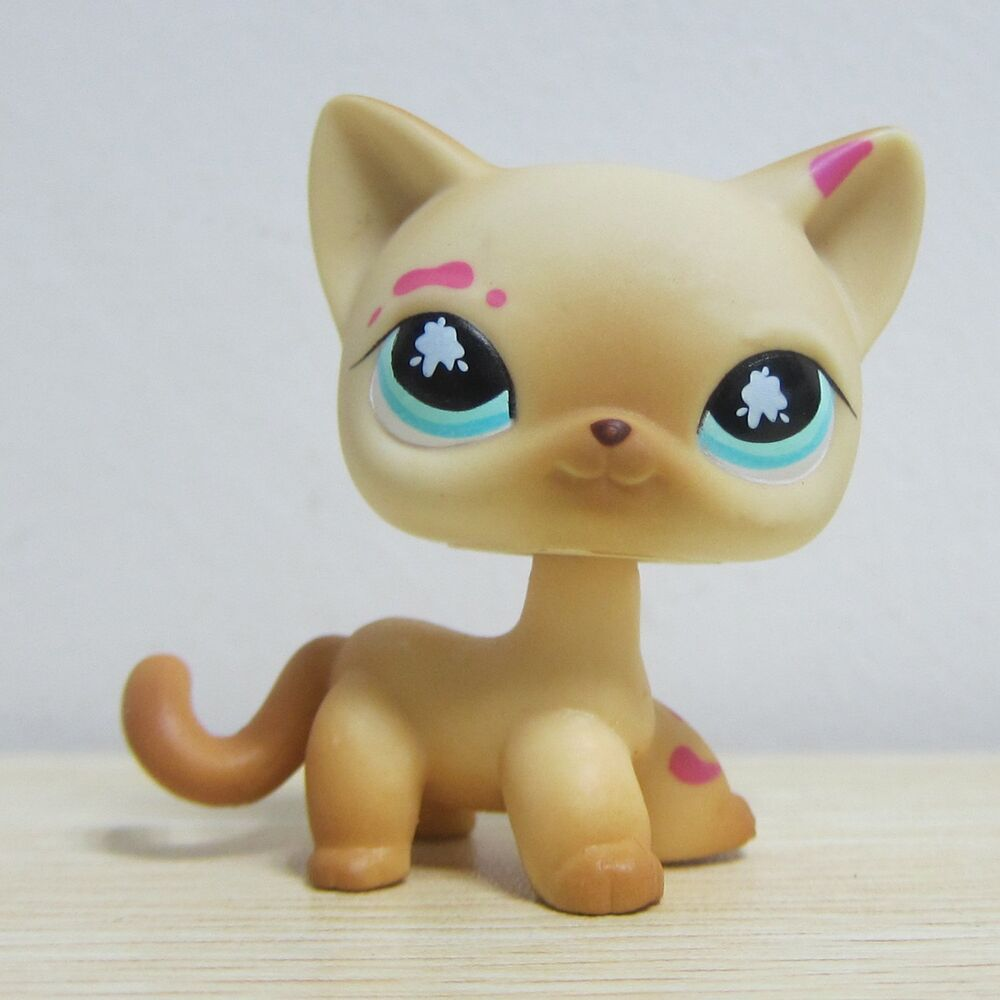 Lps Pink Hair Sitting Cat