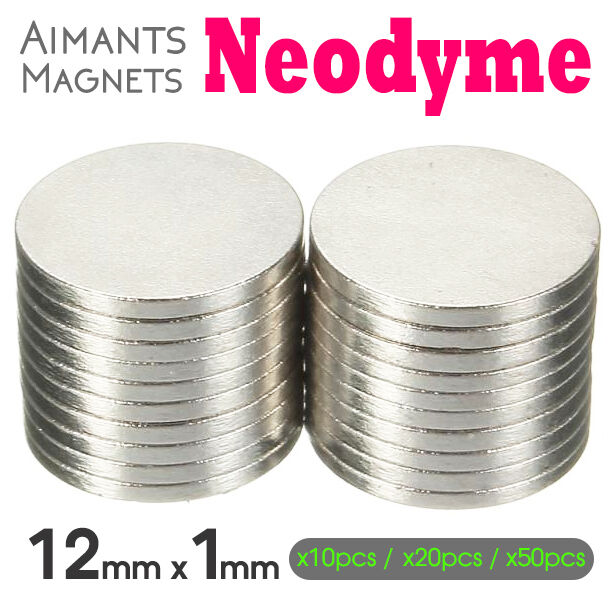 lot mini aimants magnet neodyme magnetique disque rond puissant plat 12mm x 1mm ebay. Black Bedroom Furniture Sets. Home Design Ideas