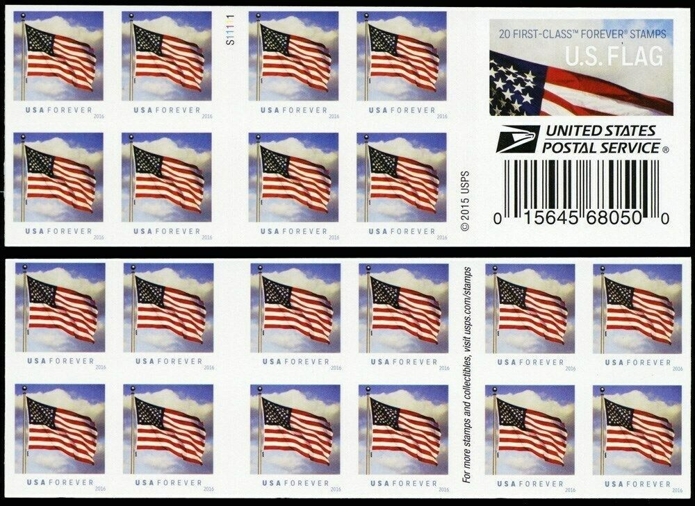 Scott 6805 Rare Imperforate Error Booklet Pane Forever Stamps - United-states-forever-stamps