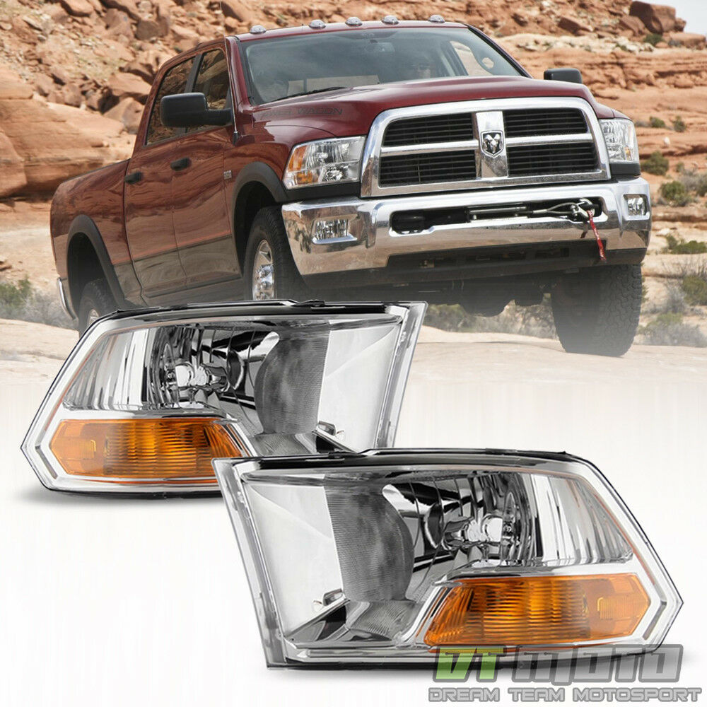 2009 2017 dodge ram 1500 2500 3500 headlights headlamps. Black Bedroom Furniture Sets. Home Design Ideas