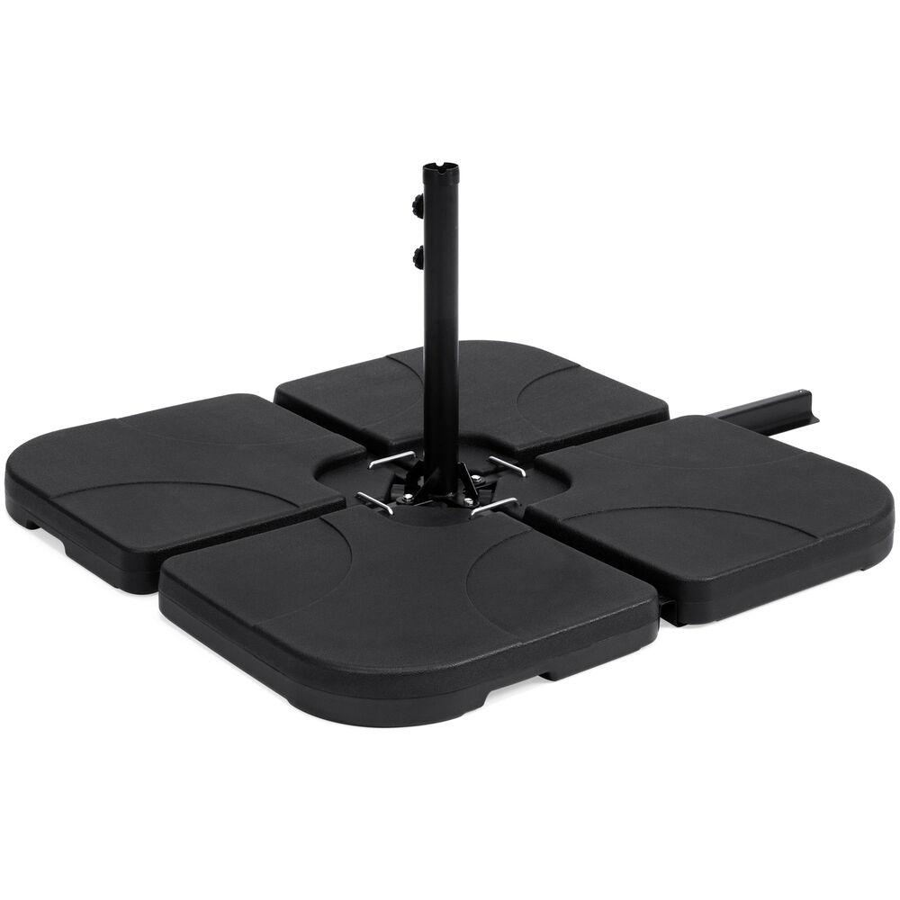 Bcp 4 Piece Cantilever Offset Patio Umbrella Stand Square Base Plate
