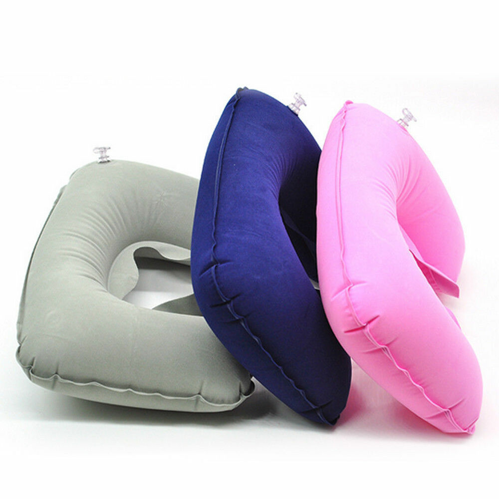 Hot U Shaped Inflatable Travel Pillows Neck Support Car