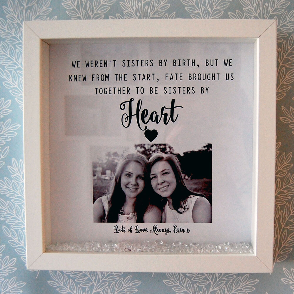 Personalised Framed Print - We Weren\'t Sisters by Birth Gift Friends ...