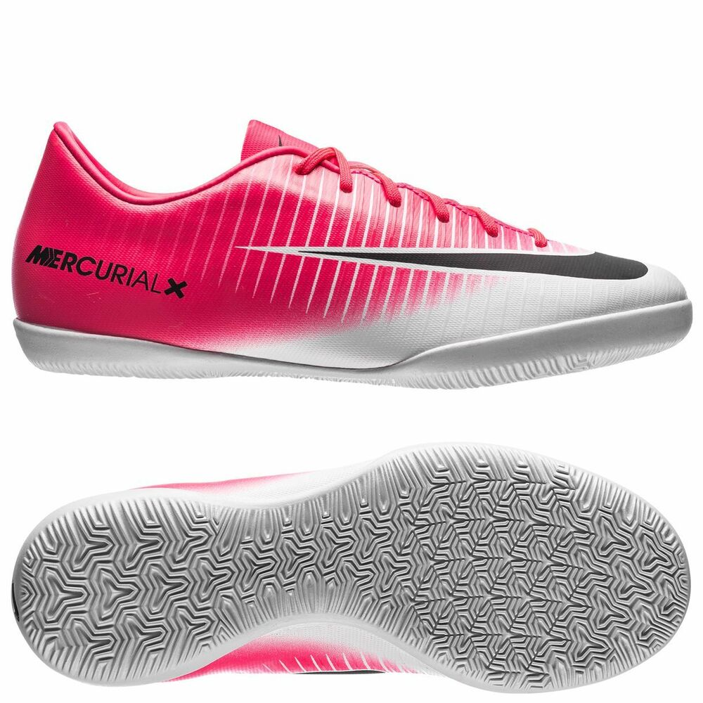 1df8b11fc61 Details about Nike Mercurial X Victory XI IC Indoor Soccer SHOES 2017 White  Pink Kids Youth