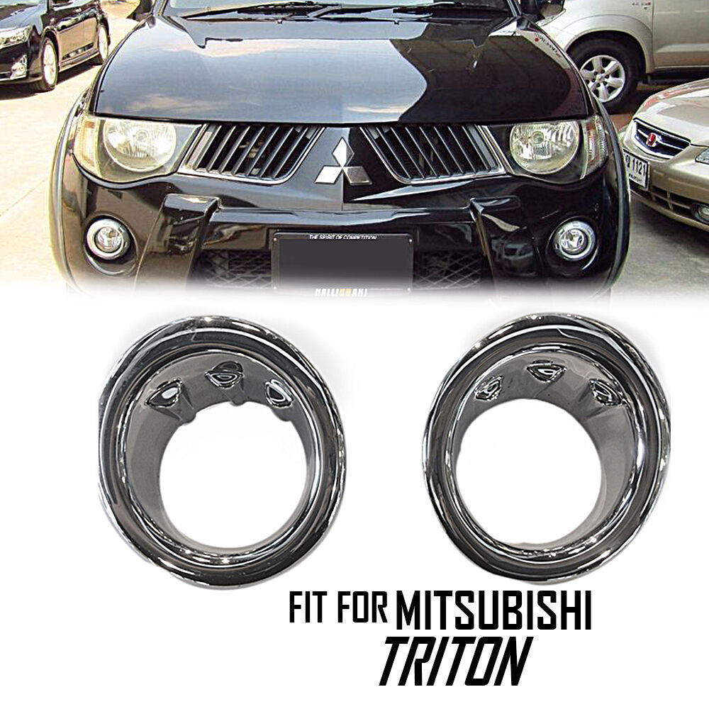 Mitsubishi Triton Accessories Ebay >> Chrome Fog Light Spotlight Cover ABS Mitsubishi Triton L200 05 06 07 08 | eBay