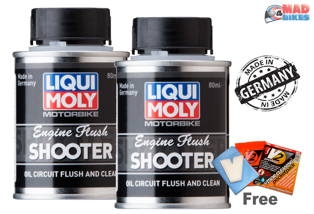 Motorcycle Engine Cleaner : Liqui moly engine flush shooter motorcycle oil