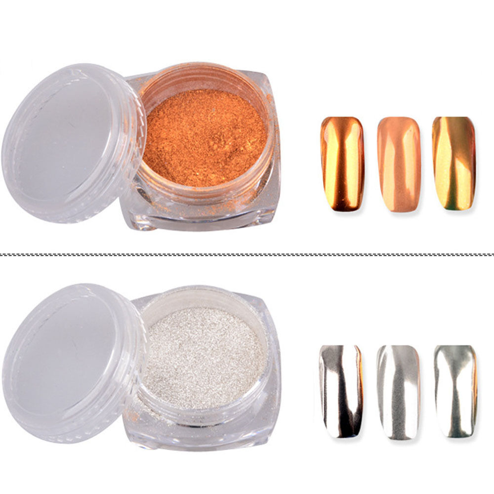 Chrome Nail Powder Cnd: Nail Glitter Mirror Powder Chrome Dust Nail Art Pigment