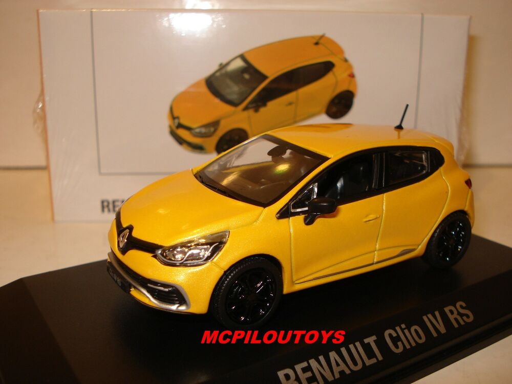 norev renault clio 4 rs jaune sirius au 1 43 ebay. Black Bedroom Furniture Sets. Home Design Ideas