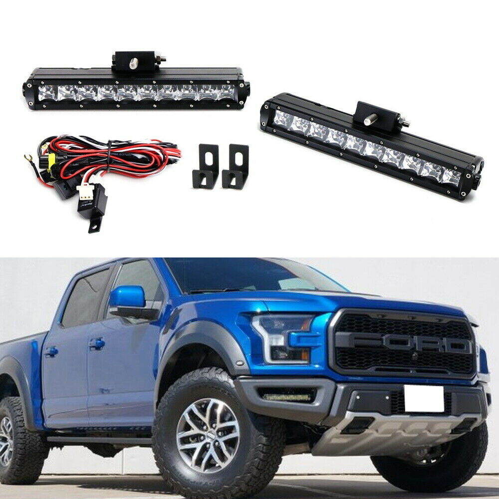 100w cree led light bar fog lamp kit w   lower bumper