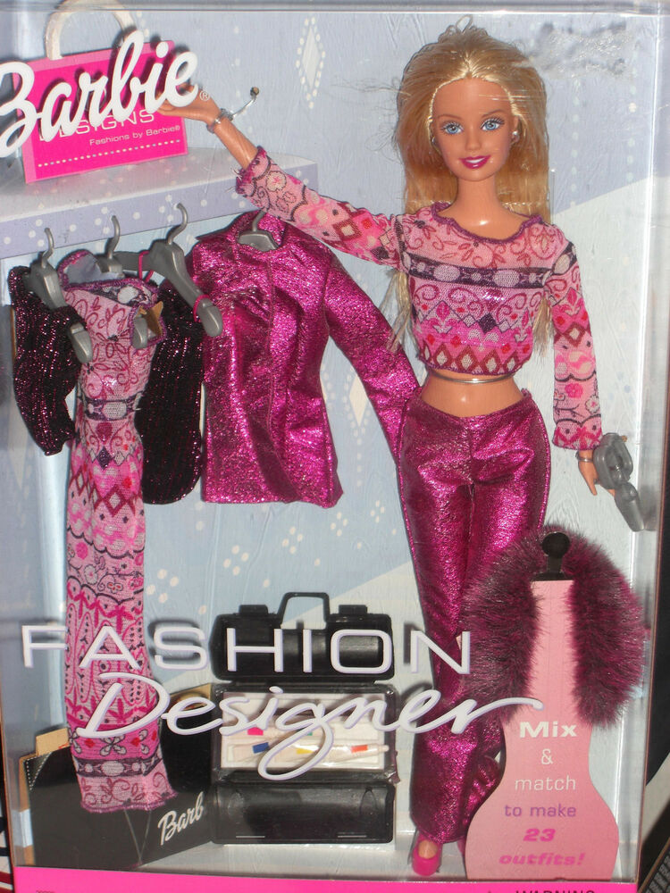 2000 Special Edition Fashion Designer Barbie Gift Set With Extra Fashions Ebay
