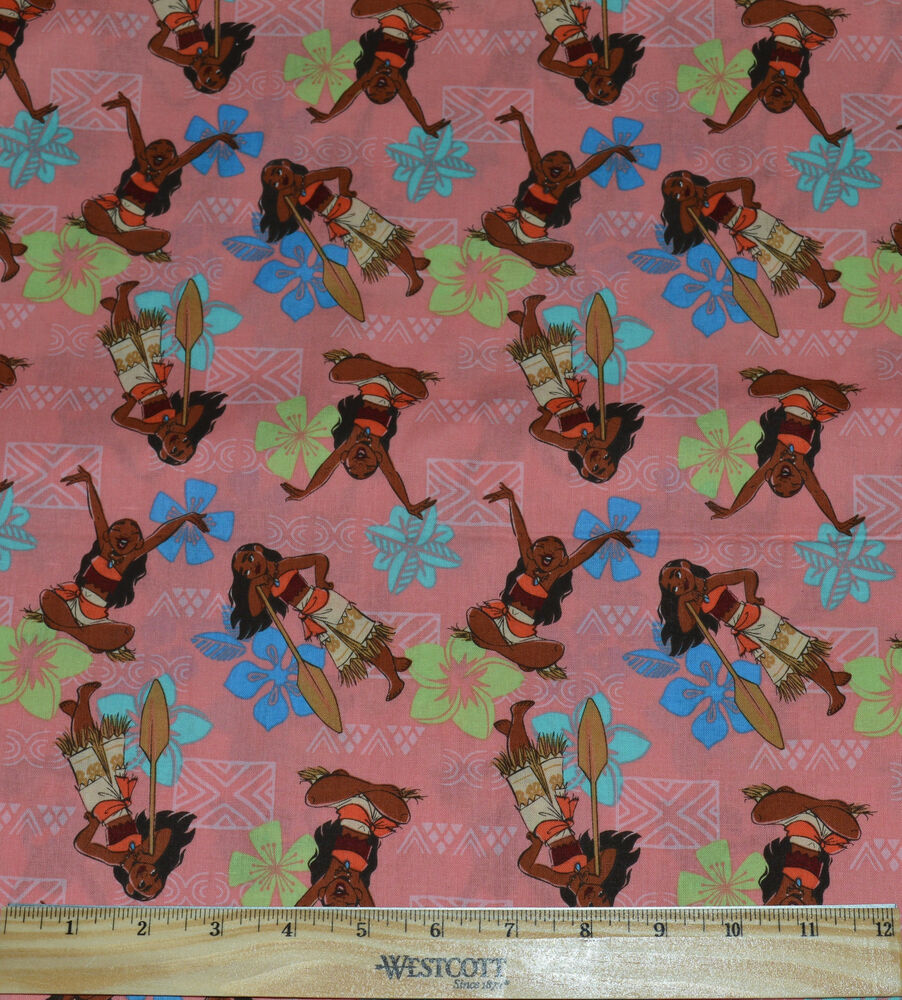 Moana fabric by the half yard disney princess oceania for Purchase fabric by the yard