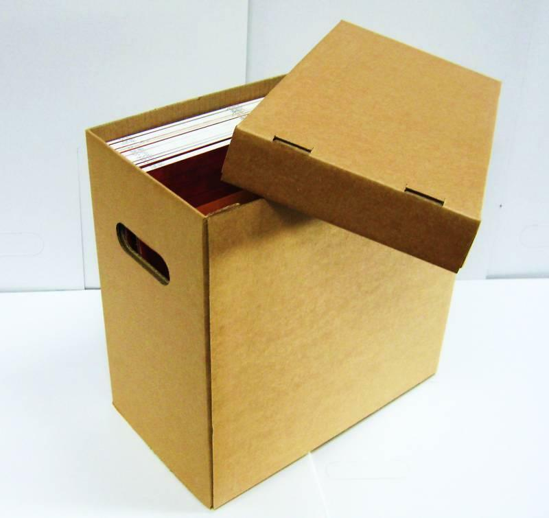 2 X 12 Quot Vinyl Record Storage Cardboard Archive Box Hold