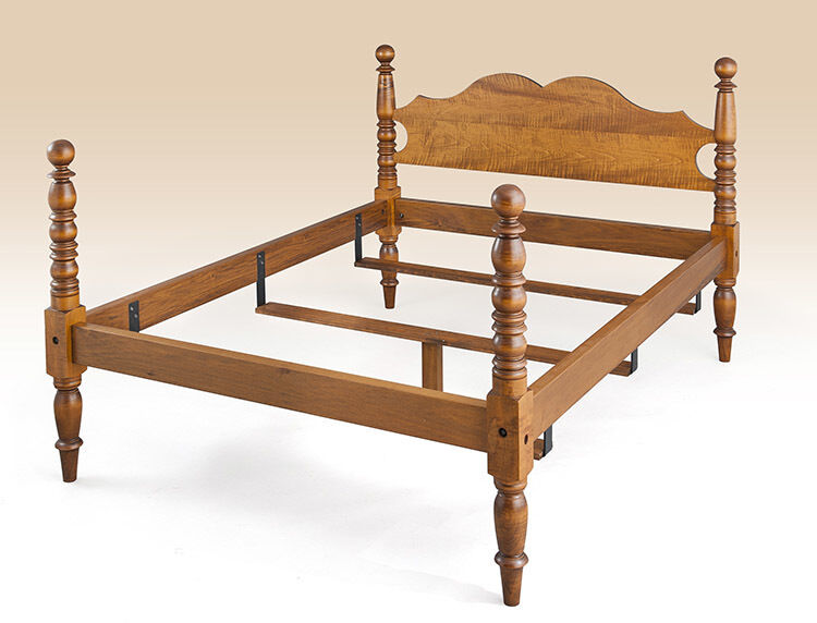 Amazoncom solid wood bed frame