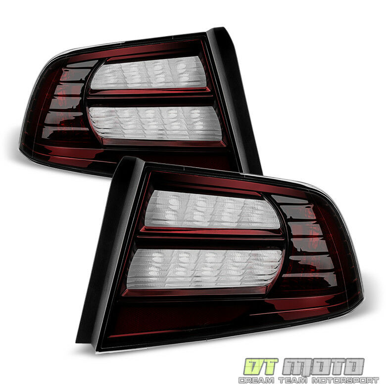 Sold 2004 2005 2006 2007 2008 Acura Tl Front Bumper Meugen: Blk Tinted 04-08 Acura TL Tail Lights Brake Lamps Left