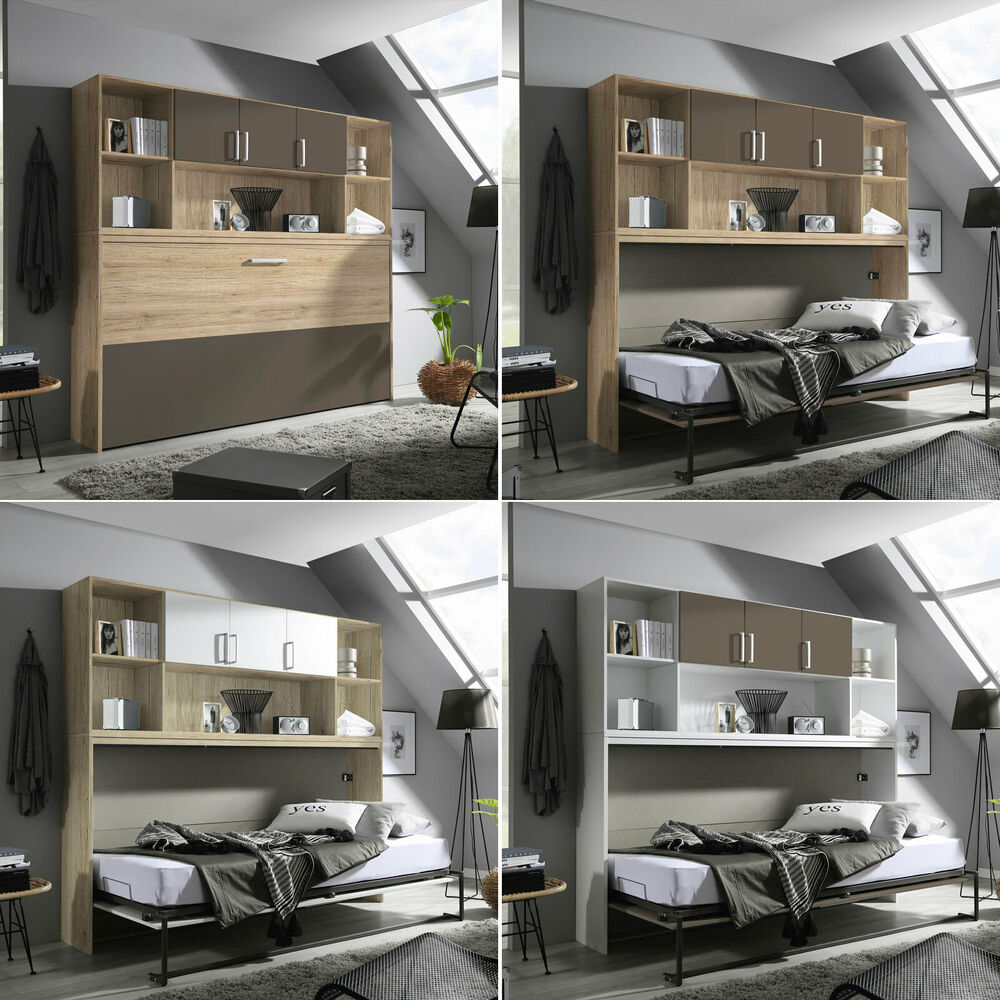 schrankbett set albero bett berbau kleiderschrank regal 90x200 cm 4 designs ebay. Black Bedroom Furniture Sets. Home Design Ideas