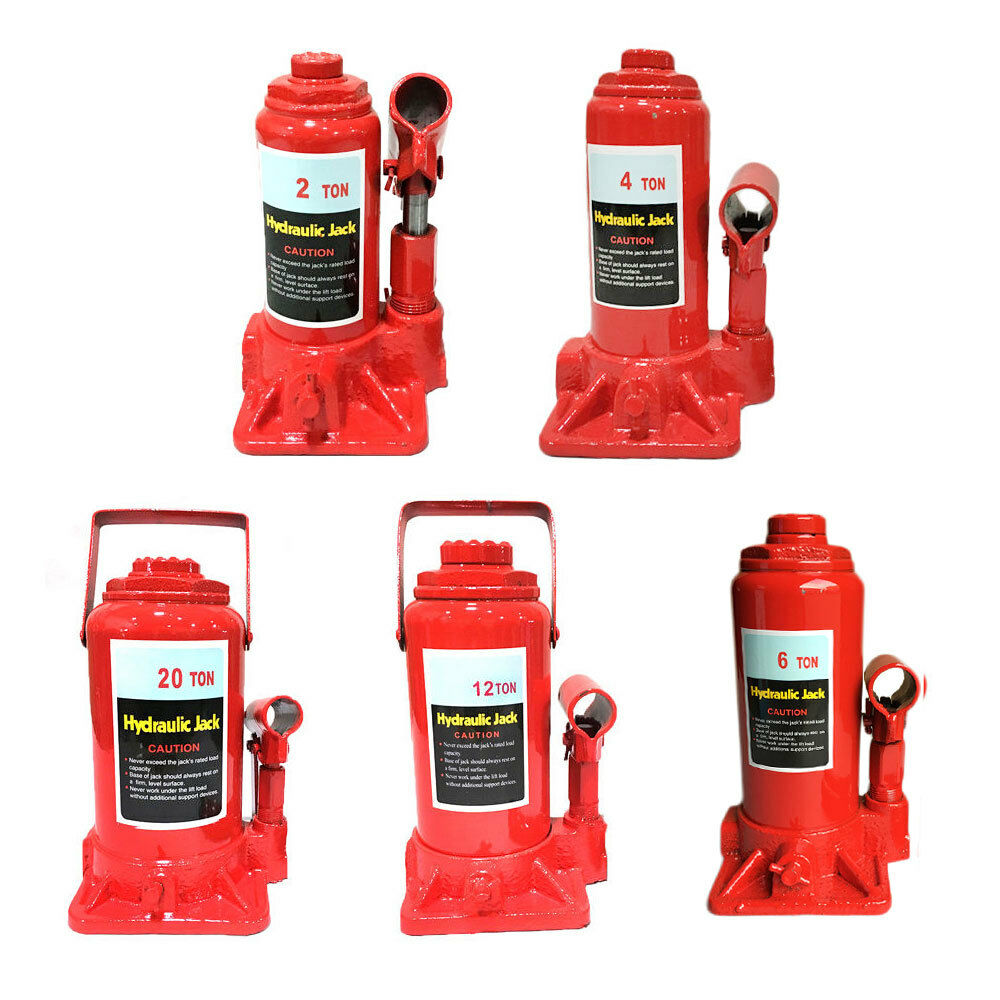 Details about 2 4 6 8 10 12 20 Ton Emergency Hydraulic Bottle Jack Lift for Truck Bus Car