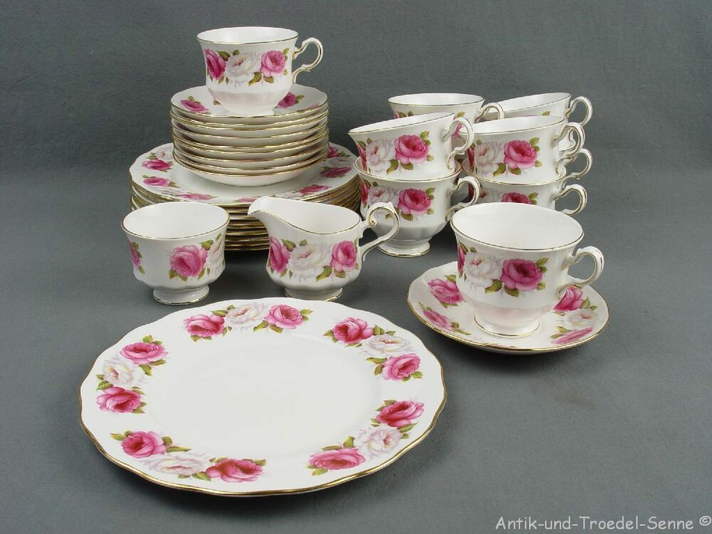 ROYAL ALBERT QUEEN ANNE PRINCESS ROSES Kaffeeservice 10P 32tlg | eBay