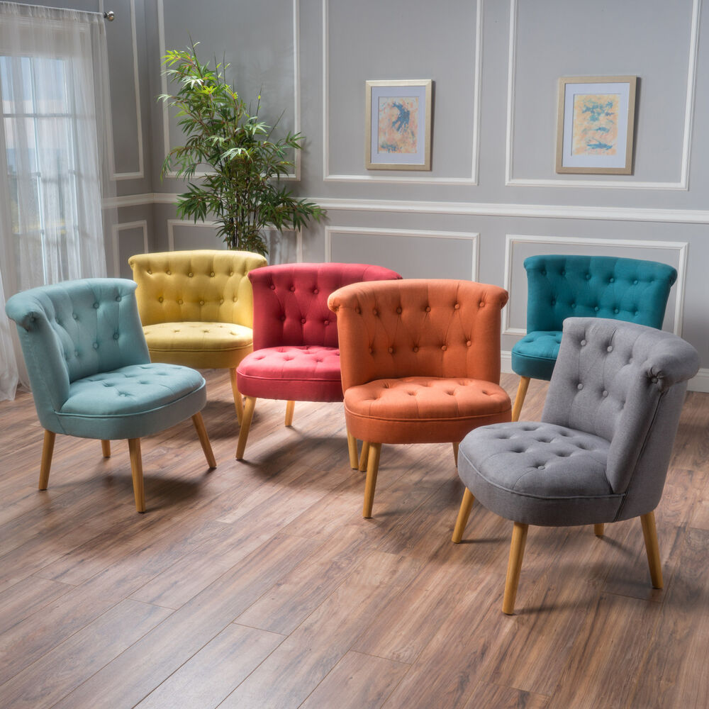 easy chairs for living room donna plush modern tufted accent chair ebay 20022