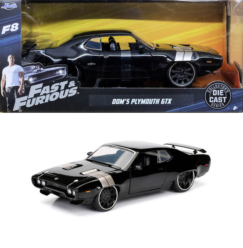 plymouth gtx fast furious dom f8 and schwarz black 1 24. Black Bedroom Furniture Sets. Home Design Ideas