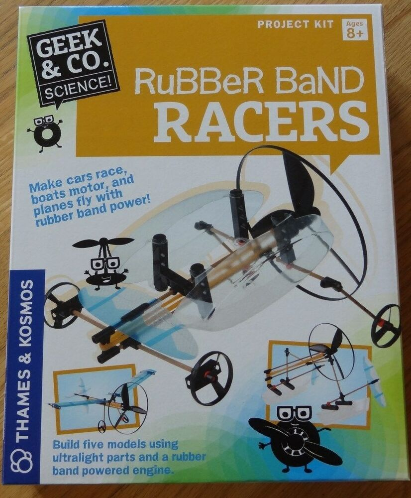 Rubber Band Racers Geek Amp Co Science Project Kit Thames