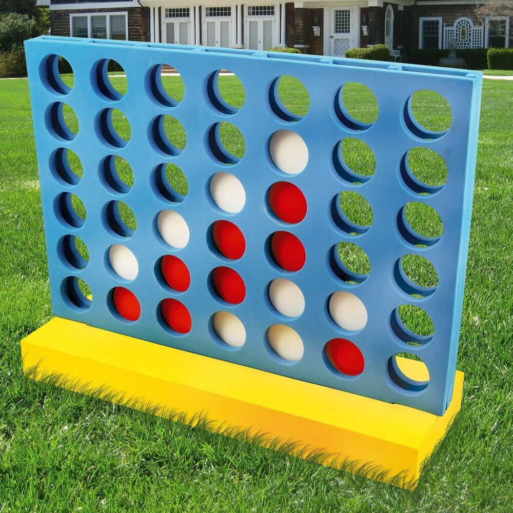 Giant Connect Four 4 in A Row Garden Outdoor Game Kids ...