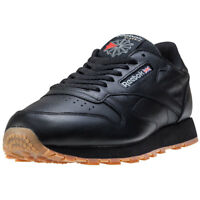 Reebok Classic Leather Hommes Baskets Black Gum Neuf Chaussure