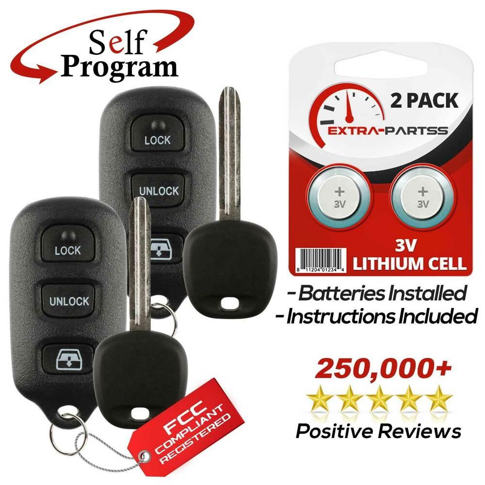2 For 2001 2002 Toyota Sequoia Keyless Entry Remote Fob Car Ignition Key