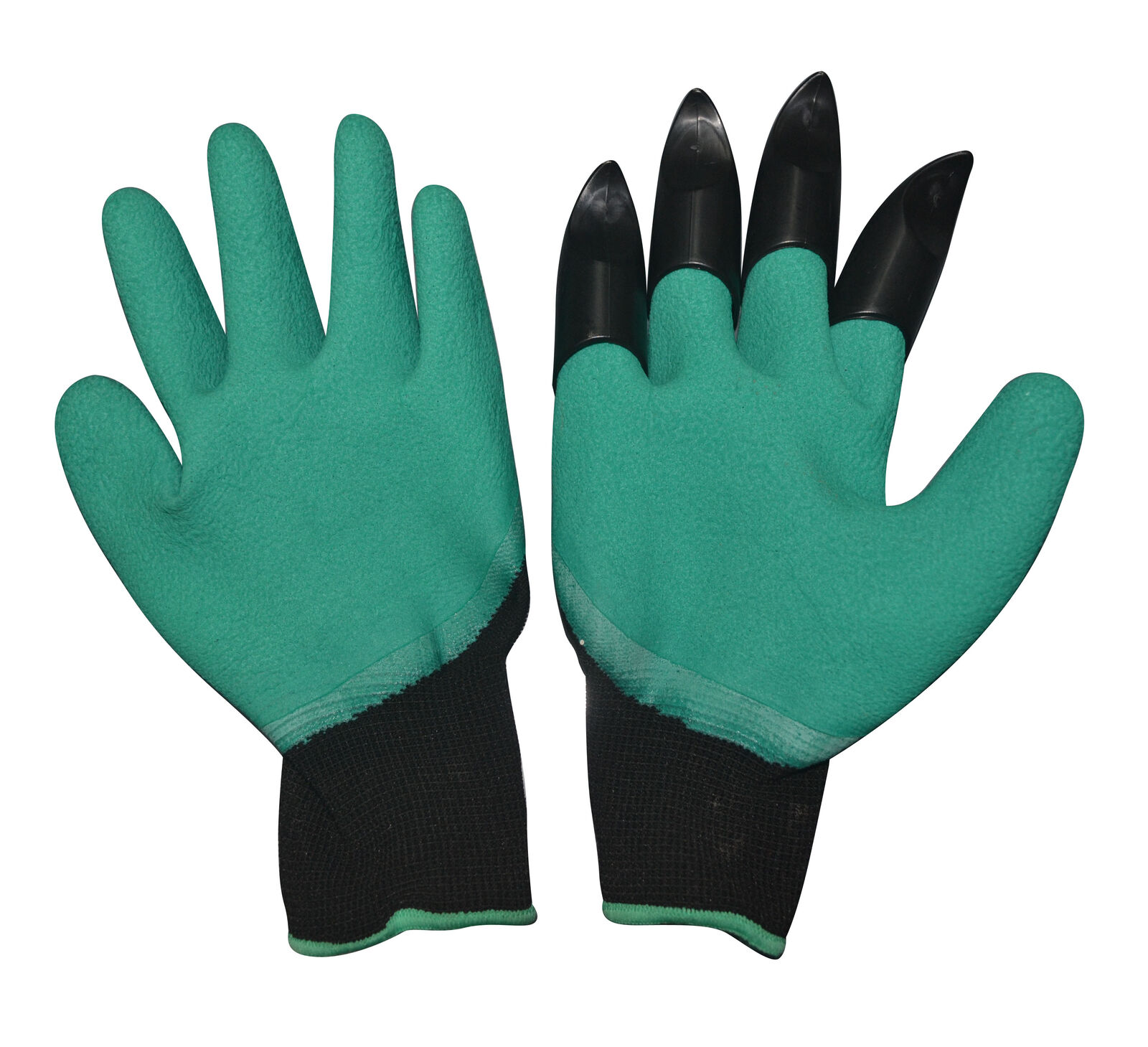2 Pairs Garden Genie Gloves Abs Latex Claws Quick,easy To Dig Plant Safe Pruning