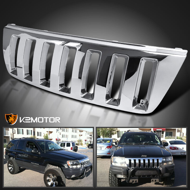 1999-2004 Jeep Grand Cherokee H2 Style Chrome Front Hood