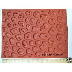 Pebble Texture Rubber Stamp Deep Etched Molding Mat for Polymer PMC Paper Clay