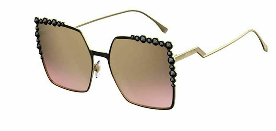 31306c7d944f Fendi Women s Cat-eye Black   Gold Sunglasses