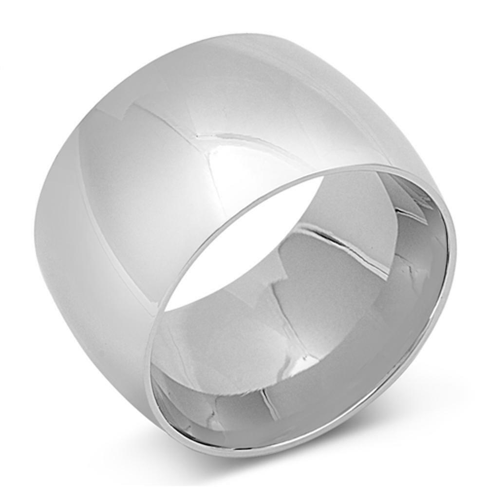 s s wide ring unique stainless steel band new