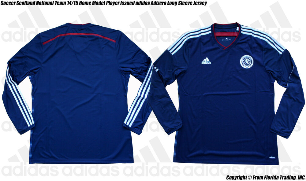 new concept 21aa8 cdfd5 Details about Soccer Scotland 1415 Home Model Player Issued adidas Adizero  LS Jersey(10XL)