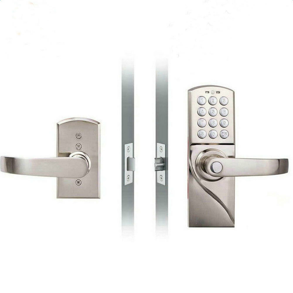 digital electronic code keyless keypad security entry door lock right handle ebay. Black Bedroom Furniture Sets. Home Design Ideas