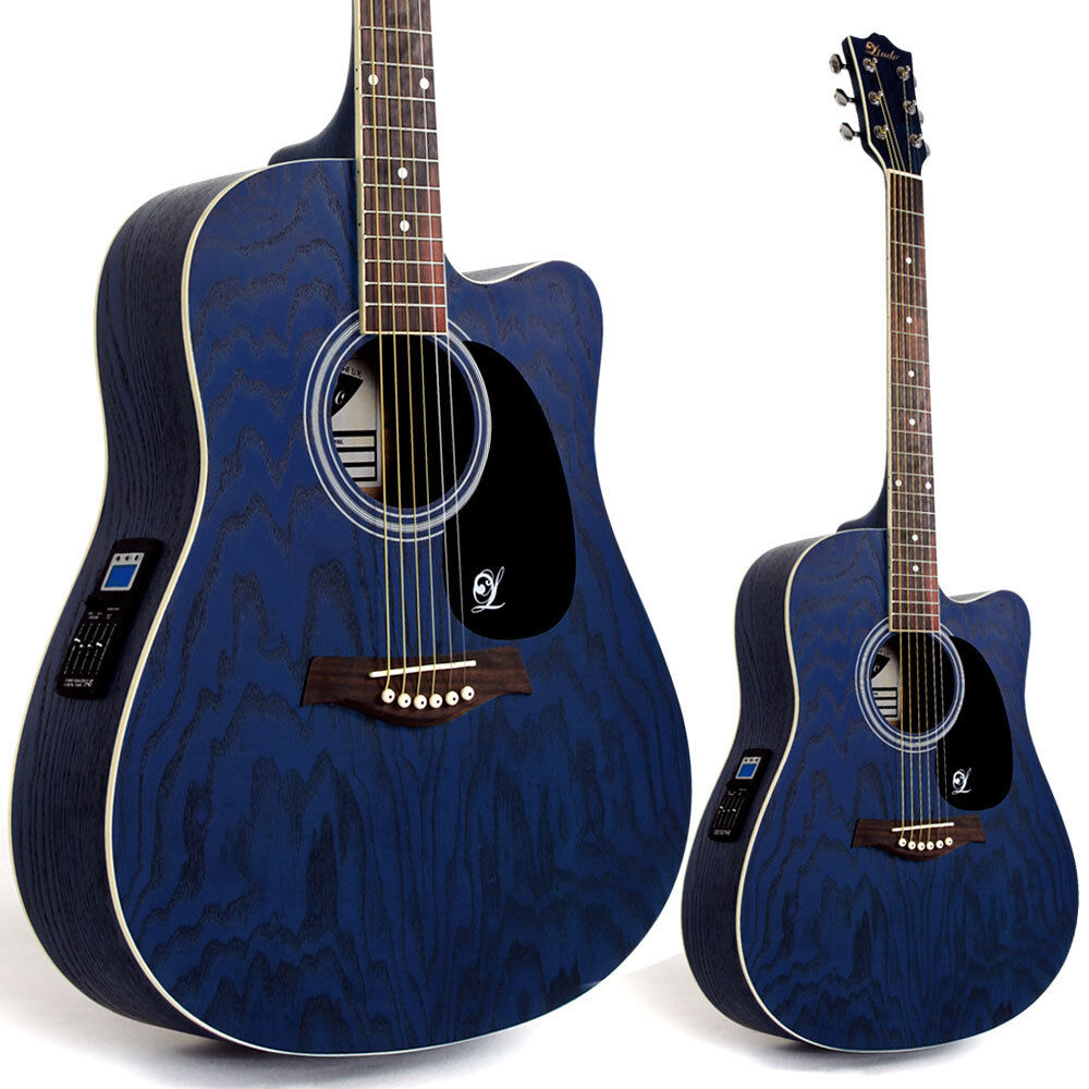 lindo willow electro electric acoustic guitar with preamp tuner lcd gig bag ebay. Black Bedroom Furniture Sets. Home Design Ideas