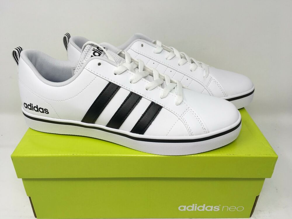 Adidas Neo White Shoes With Black