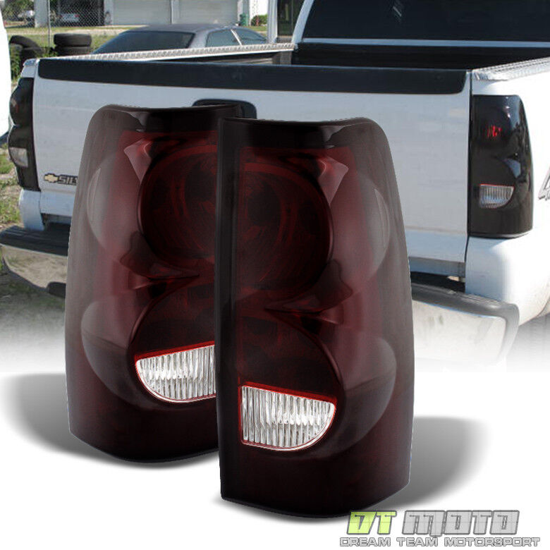 2006 Chevy Silverado Tail Lights >> Red Smoked 2003-2006 Chevy Silverado Replacement Aftermarket Tail Lights Lamps | eBay