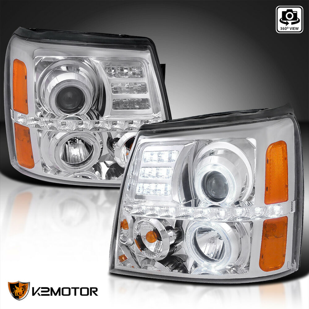 2002-2006 Cadillac Escalade LED+Halo Projector Headlights