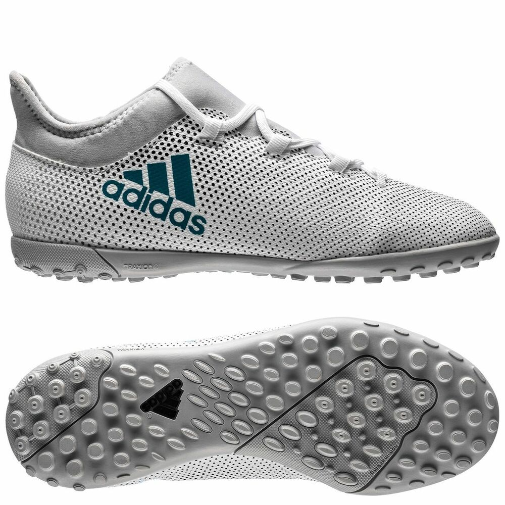 online store c6dac e937f Details about adidas X 17.3 Tango TF Turf 2017 Soccer Shoes White    Turquoise Kids - Youth