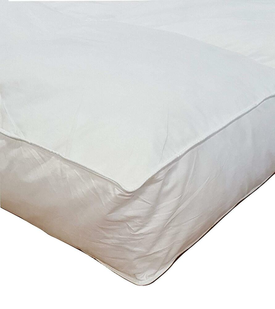 5 Quot Queen Goose Down Mattress Topper Featherbed Feather
