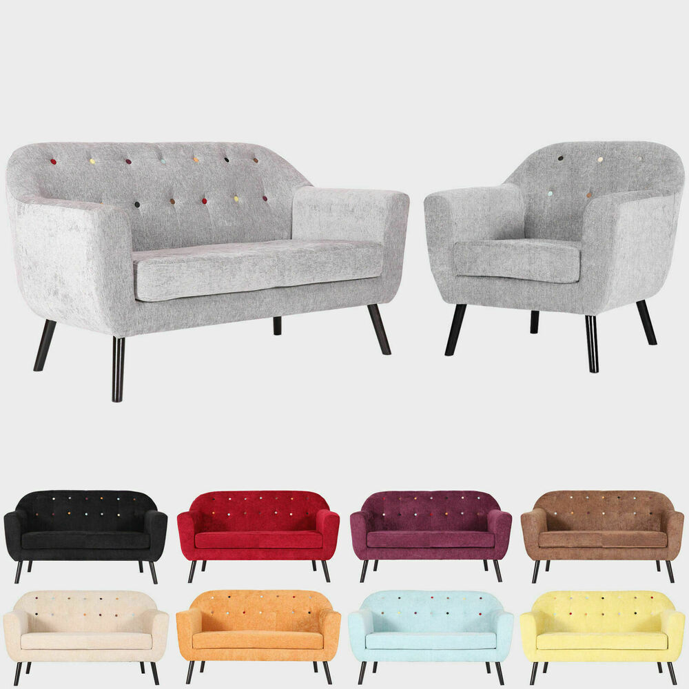 modern accent tub bucket sofa love seat armchair grey fabric 1 2 3 seater ebay. Black Bedroom Furniture Sets. Home Design Ideas