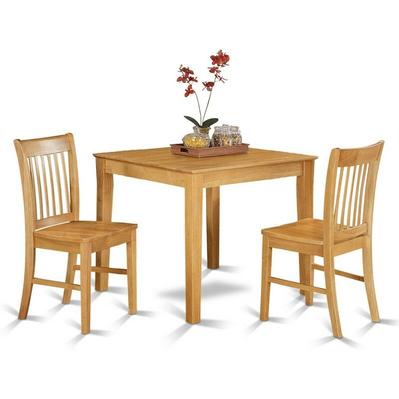 3 pc small kitchen table set square kitchen table and 2 dinette chairs new 840017325235 ebay. Black Bedroom Furniture Sets. Home Design Ideas